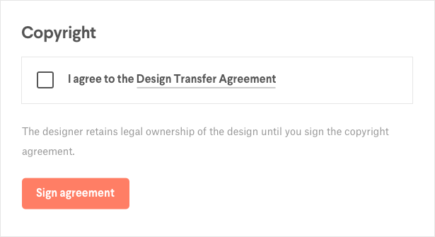 How Do I Sign The Design Transfer Agreement 99designs Help Center
