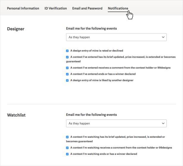 Wie ändere Ich Meine E Mail Adresse wie ändere ich meine e mail einstellungen 99designs hilfebereich